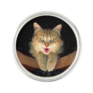 Wütende Katzen-Malerei - niedliche ursprüngliche Anstecknadel
