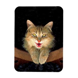 Wütende Katzen-Malerei - niedliche ursprüngliche Magnet