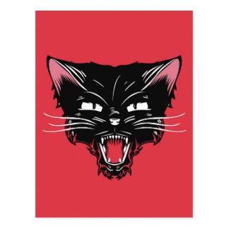 Wütende Katzen-Postkarte Postkarte