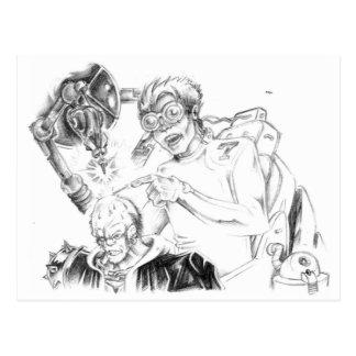 Wütende Skillustrator Postkarten
