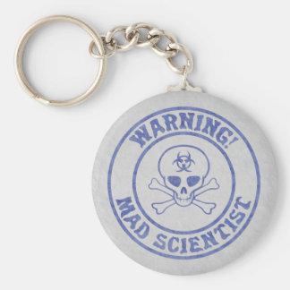 Wütende Wissenschaftler-Warnung Schlüsselanhänger