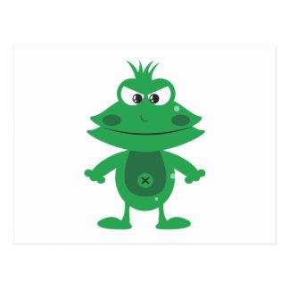 Wütender Cartoon-Frosch Postkarten
