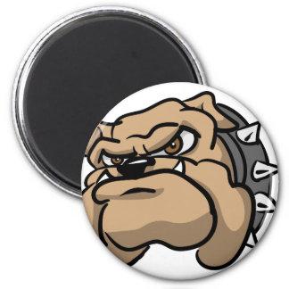 Wütender Hund Runder Magnet 5,1 Cm