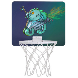 WÜTENDER max-HUHN-ROBOTER-CARTOON Mini Basketball Netz