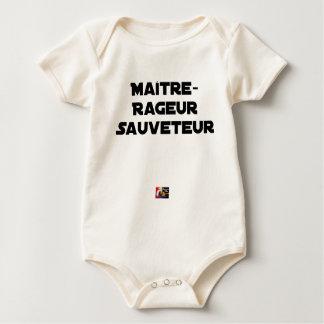 Wütender Meister Retter - Wortspiele Baby Strampler