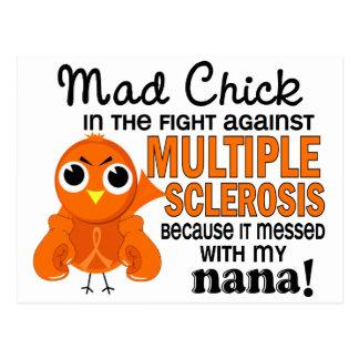 Wütender Nana-multiple Sklerose Mitgliedstaat des Postkarte