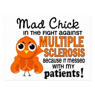 Wütender Patienten-multiple Sklerose Mitgliedstaat Postkarte