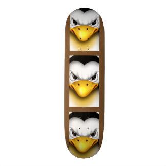 "WÜTENDER PINGOUIN CARTOON Skateboard 8 1/8"""