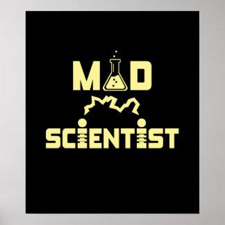 Wütender Wissenschaftler-elektrischer Poster