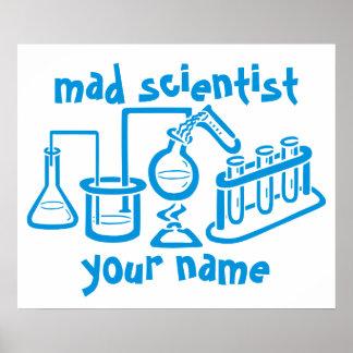 Wütender Wissenschaftler Poster