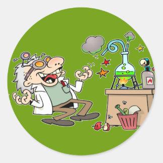 Wütender Wissenschaftler Runder Sticker