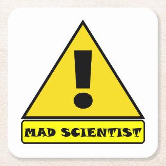 Wütender Wissenschaftler-Untersetzer Rechteckiger Pappuntersetzer