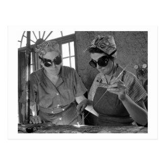 WW2 Frauen Welders, 1942 Postkarte