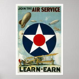 WWI Fluglinienverkehr, 1917 Poster