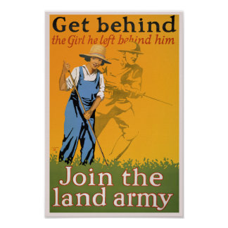 WWI Propaganda-Plakat - erhalten Sie hinter dem Poster