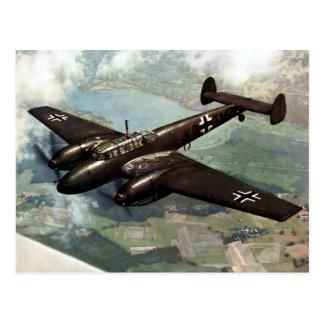 WWII deutsches Bf-110 im Flug Postkarte