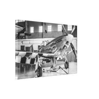 WWII nordamerikanisches Kämpfer-Flugzeug Mustang-P Gespannte Galeriedrucke