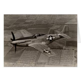 WWII P-51 Mustang im Flug Karte