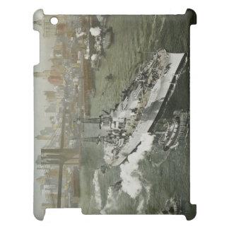 WWII Schlachtschiff auf dem Hudson NYC Vintag iPad Hülle