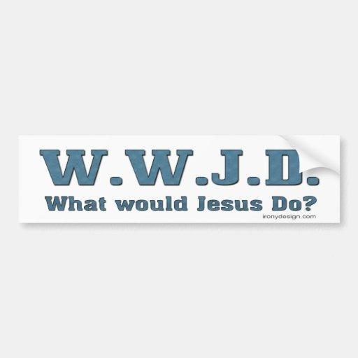 WWJD? Was würde Jesus tun? Auto Aufkleber