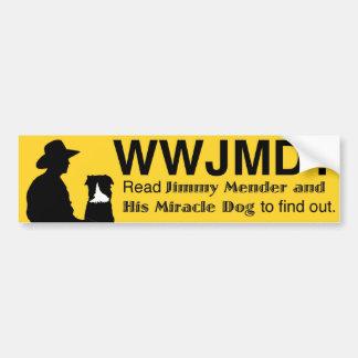 WWJMD - Was würde Jimmy-Ausbesserer tun? Autoaufkleber