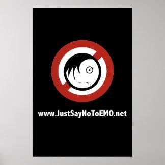 www.JustSayNoToEMO.net-Plakat Poster