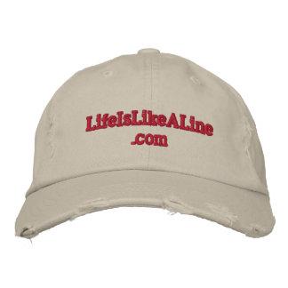 www.LifeIsLikeALine verwitterte Baseballmütze Bestickte Baseballkappe