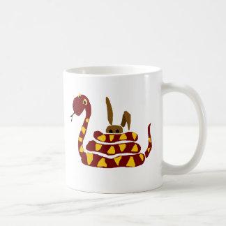 WX-, lustige Schlange, die Kaninchen-Cartoon Kaffeetasse