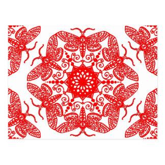 Wycinanka Motten-Muster Postkarte
