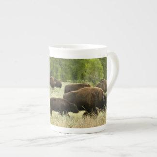 Wyoming-Bison-Natur-Tier-Fotografie Porzellantasse