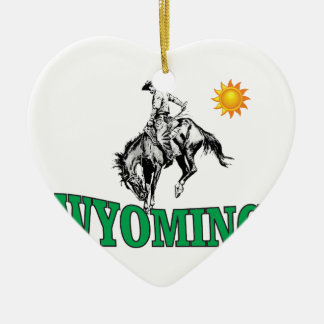 Wyoming-Cowboy Keramik Ornament