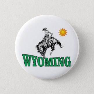 Wyoming-Cowboy Runder Button 5,7 Cm