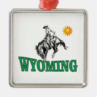 Wyoming-Cowboy Silbernes Ornament