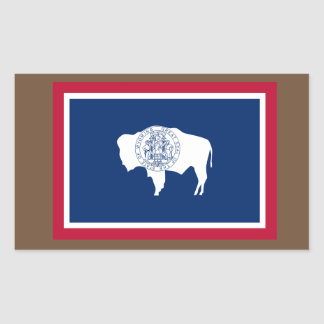 Wyoming-Flaggen-Aufkleber Rechteckiger Aufkleber