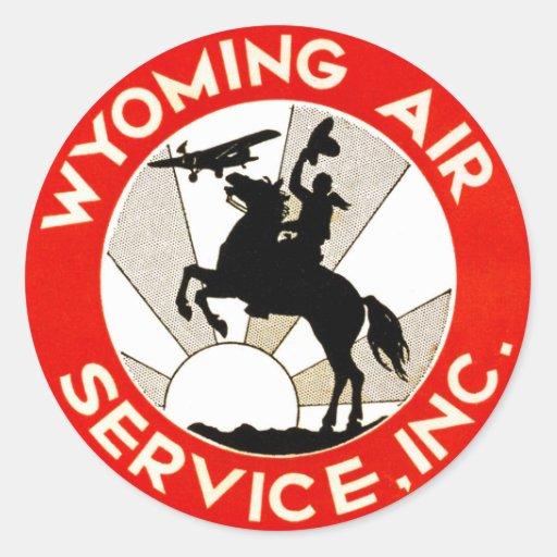 Wyoming-Fluglinienverkehr Runde Sticker