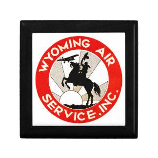 Wyoming-Fluglinienverkehr Kleine Quadratische Schatulle