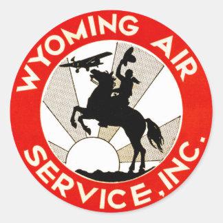 Wyoming-Fluglinienverkehr Runder Aufkleber