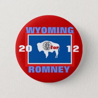 Wyoming für Romney 2012 Runder Button 5,7 Cm