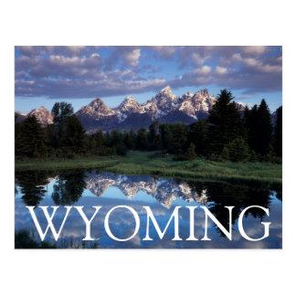 Wyoming, großartiger Teton Nationalpark 4 Postkarte