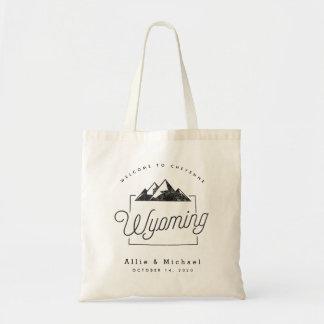 Wyoming-Hochzeits-Willkommens-Taschen-Tasche Tragetasche