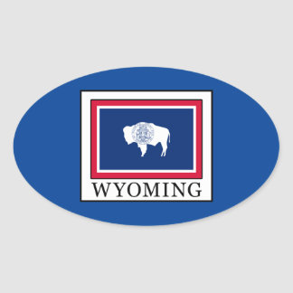 Wyoming Ovaler Aufkleber