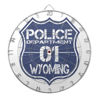 Wyoming-Polizeidienststelle-Schild 01 Dartscheibe