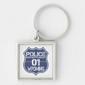 Wyoming-Polizeidienststelle-Schild 01 Schlüsselanhänger
