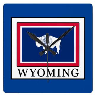 Wyoming Quadratische Wanduhr