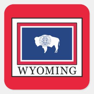 Wyoming Quadratischer Aufkleber