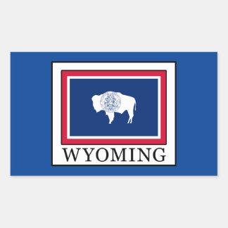 Wyoming Rechteckiger Aufkleber
