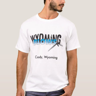 Wyoming-Schläge/Cody, Wyoming T-Shirt