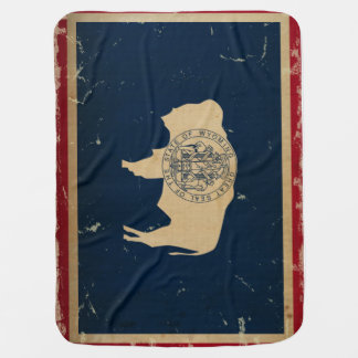 Wyoming-Staats-Flagge VINTAG Puckdecke