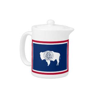 Wyoming-Staats-Flaggen-Teekanne