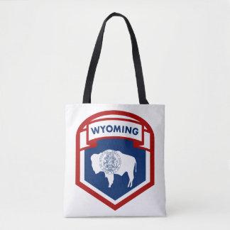Wyoming-Staats-Flaggen-Wappen-Schild-Art Tasche